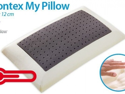 Cool summers with the grey thermo-regulating Moontex My Pillow by Mollyflex